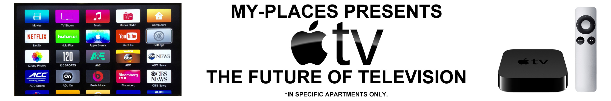 Apple TV in apartment 56