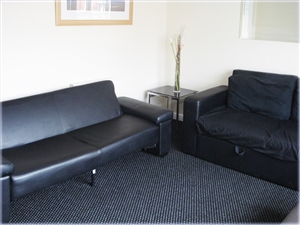 Seating in the living room at 14 Abbotsfield