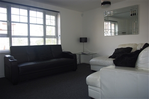 The living room seating area