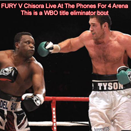 Tyson Fury vs Dereck Chisora At The Phones4U Arena.