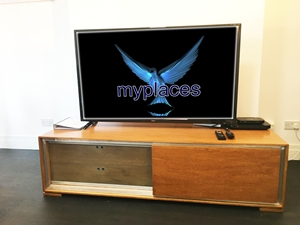 Quality Oak TV Stand